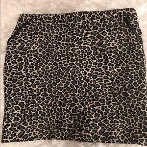 Amanda + Chelsea Leopard Print Skirt Size 18W